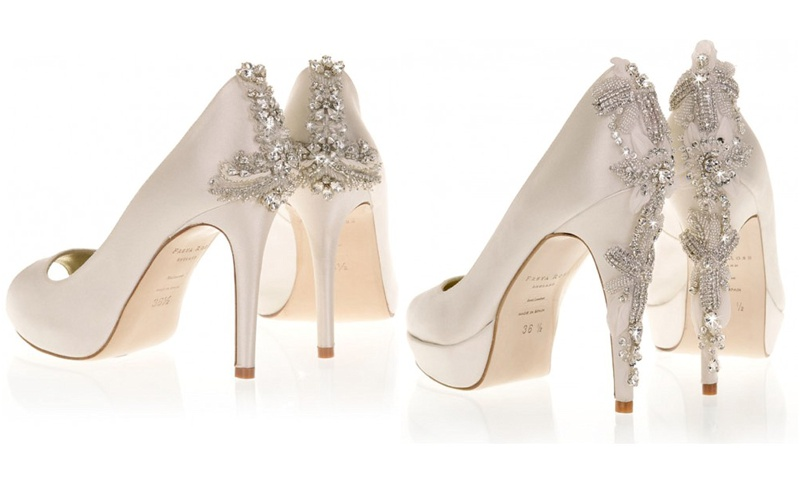 here are our top finds of perfect bridal shoes with decorative heels